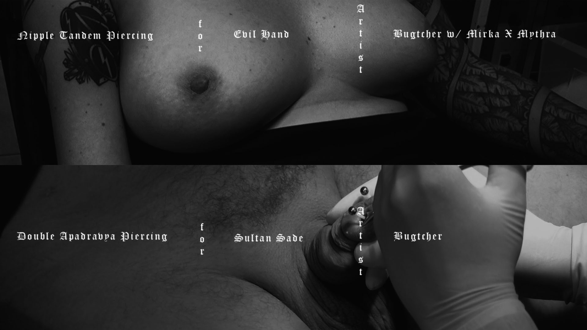 Dick´n´Tits_double piercing - S&M PROJECT : S&M PROJECT